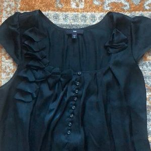 Size XS Navy silky blouse from Gap